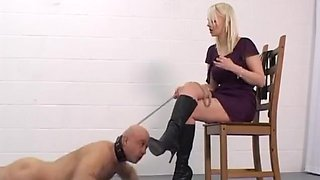 WW - Chained slave boot worship