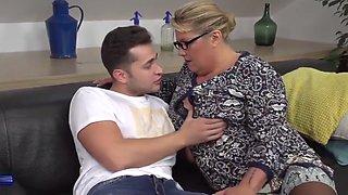Desperate mother seduce and fuck lucky son