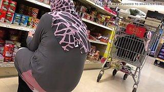 Hijab arab wife with big booty