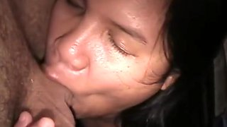 Filipina MILF gives perfect blowjob and swallow