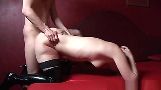 Real dutch hooker receives oral pleasure