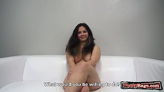 Hot amateur casting with cumshot