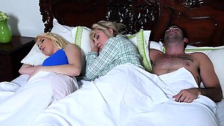 BadMILFS - Blonde Teen Catches Her Stepmom and Boyfriend