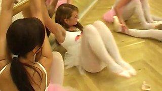 Little blonde girl fucked by gangbang Hot ballet doll orgy