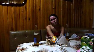 Horny Russian teen gets her fiery holes toyed and fingered