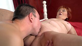 Old ginger bitch fucked from behind