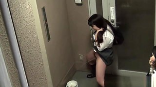 Teenage japanese babes pissing