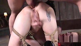 Bondage brunette extreme anal fisted