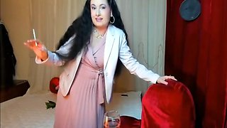 Wife Of An Affluent Man - Elegant Dress And Nude Pantyhose
