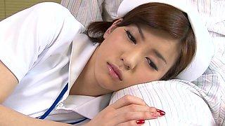 Nurse Yuria Ashina gives him unexpectedly steamy cock licking