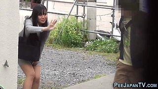 Japanese slut pissing