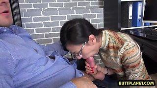 hot pornstar blowjob and facial film