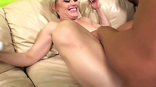 Fabulous pornstars Ash Hollywood and Nicole Aniston in hottest blonde, creampie sex scene