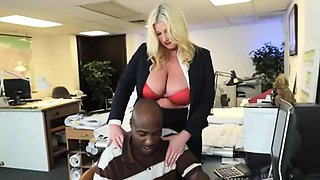 Busty bbw secretary interracial office fuck