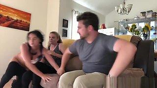 Naughty Step Sisters spanked