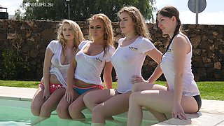 Wet T-shirts big tits and some really hot exhibitionistic babes