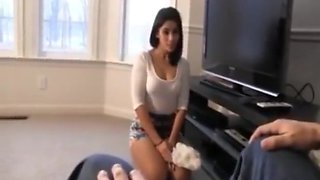 Latina Cleaning Lady Bound for Fun