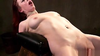 Wet shaved pussy slave rough banged