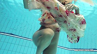 Sexy Lucy Gurchenko Russian hairy babe in the pool naked