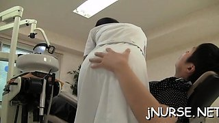 Nurse in heats craves for ramrod in every of her love holes