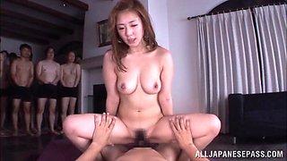 Hot Asian milf Minori Hatsune in wild gangbang