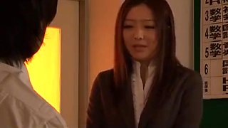 Students forced creampie teacher Ai Haneda