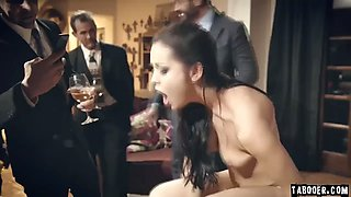 Escort girl alina lopez brutally fucked during party!
