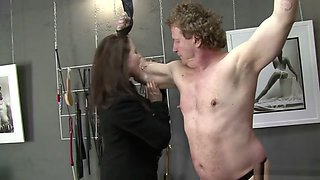 Mistress biting slave