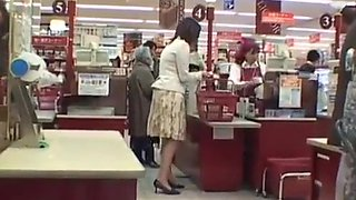 (shoplifter) Housewife shoplifter get caught be punished