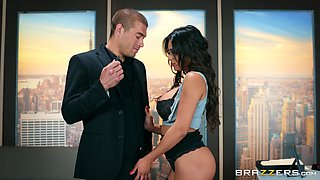 sexy secretary Autumn Falls adores hard sex with her boss in the office