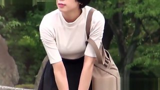 Adorable Japanese babes taped secretly while urinating