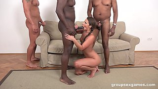 Strong hunks are ready to provide Amirah Adara the desired anal