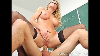 Naughty america regan anthony fucking in the classroom with
