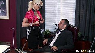 Hot Blonde Makes Boss Horny
