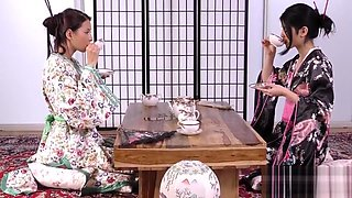 Asian Geishas Drink Each Others_ PIss