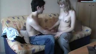 Homemade porn with a young Russian girl