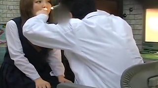 Japan school breast exam gyno doctor