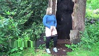 UK-Flashers - Sexy Ashley Rider flashing and peeing