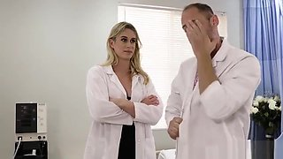 Hot angry doctor shemale got anal banged after a nap