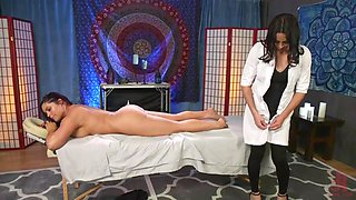 buxom brunette jasmeen wants a full-service from tranny masseur