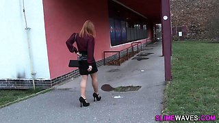 European babe gets sperm