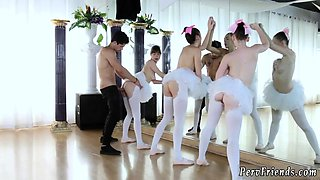 Wild fun party girls and frat house orgy xxx Ballerinas