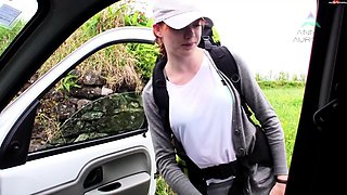 Czech redhead amateur POV banging in fake taxi