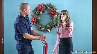 Brunette teen secretary Kimmy Granger cum sprayed by her boss