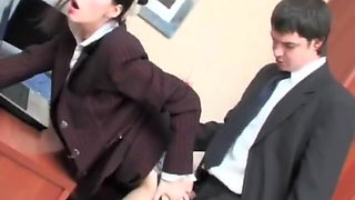 Russian Judith Takes Her Boss' Cock In The Office - Creampie