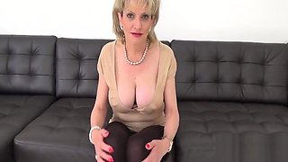 Cheating british milf lady sonia flaunts her heavy jugs