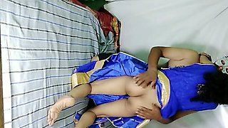 South Indian Bhabhi with big ass squirting hard fucking her husband big cock in femdom position