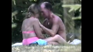 Horny Couples Outdoor Sex Voyeur