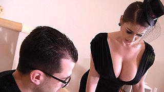 Busty secretary deals massive cock with passion and lust