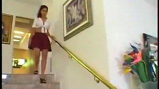 Arabian college girl Double Penetration Threesome